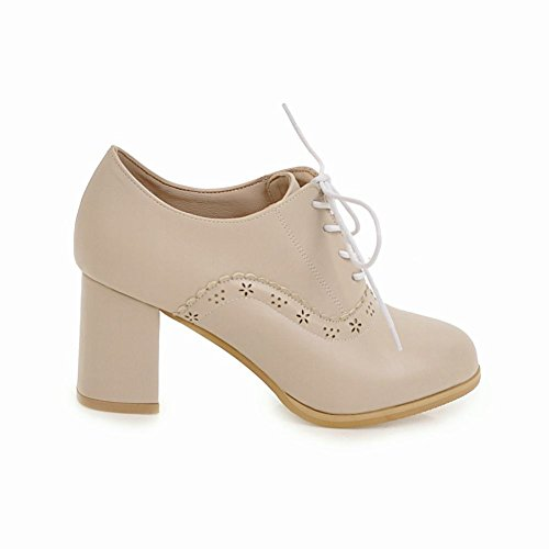 Femmes Travail Chaussures Bloc Escarpins De Talons MissSaSa abricot HWnd6gqq
