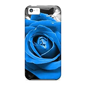 Iphone 5c Cover Case - Eco-friendly Packaging(blue Rose)