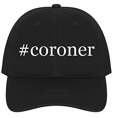The Town Butler #Coroner - A Nice Comfortable Adjustable Hashtag Dad Hat Cap, Black