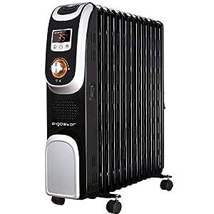 Aigostar Oil Monster 33JHH - Radiatore elettrico 13 elementi con schermo a LED, Telecomando a distanza, Potenza 2500W… 41kGu5AyJSL. SS300