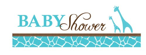 Creative Converting Baby Shower Wild Safari Blue Giant Party Banner, 60-Inch]()