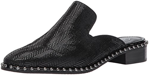 Adrianna Papell Women's Pam Slip-on Loafer Black Herring Bone Leather