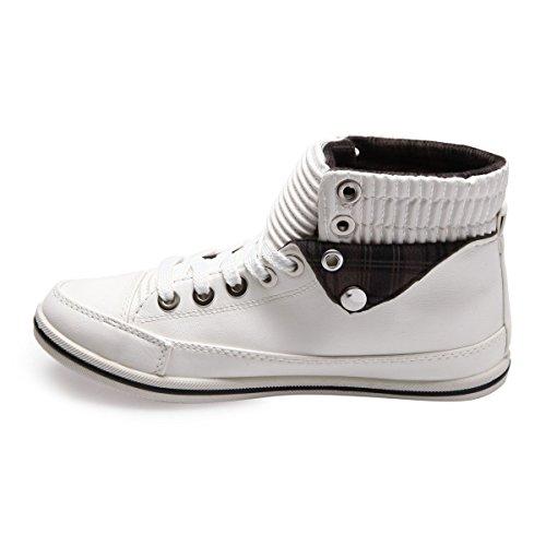 Mujer La Deporte De Zapatillas Para Blanco Modeuse OXXqA6z