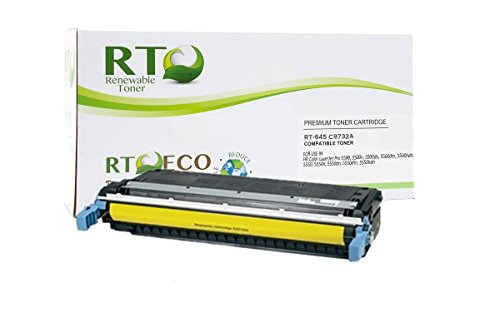 Renewable Toner 645A Compatible Cartridge Replacement HP C9732A for HP Color LaserJet 5500 5550 Printer Series (Yellow)