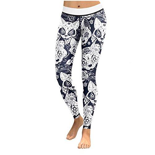 Elakaka High Waisted Workout Leggings for Women - Lightweight Printed Yoga - Museum Rockabilly