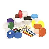 Creatividad Copas de pintura para calles con pinceles, juego de 20 piezas (AC5104)