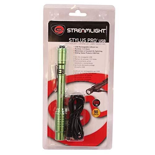 Streamlight 66145 Stylus Pro USB W/ 120V AC - Lime