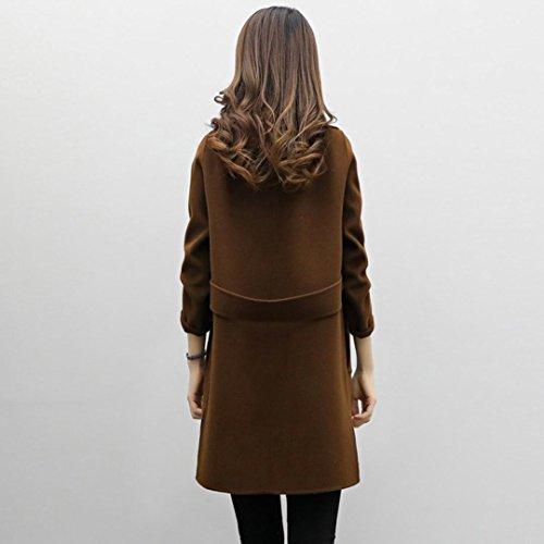 Jacket Coat Outwear HARRYSTORE Autumn Womens Slim Casual Coffee Parka Winter Overcoat Cardigan twtFBq1
