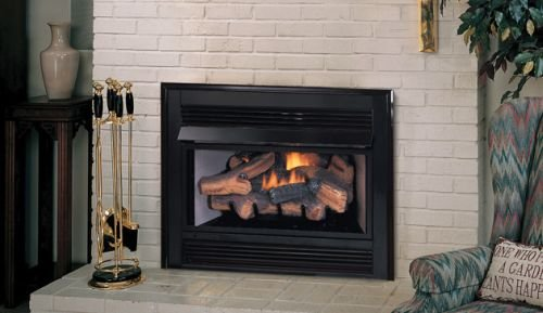 Superior Fireplaces Natural Gas Vent-Free Fireplace Insert - Best Gas Fireplace Insert with Blower