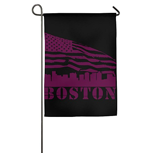 WWTBBJ-B Boston City View American Flag Custom Garden Flag For Present ()