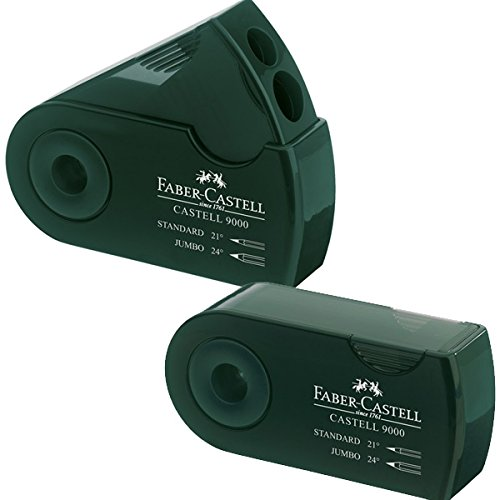 Faber-Castell 9000 Double-Hold Sharpener Grn
