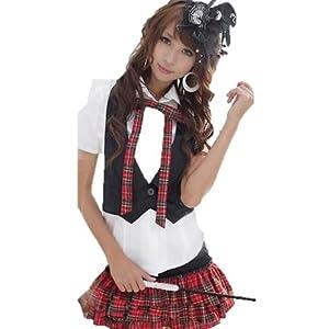 AKB48衣装風コスプレ/可愛いスクール系ミニジャケット付Yapy-Bタイプ