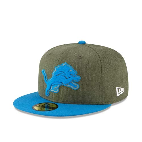 New Era Detroit Lions 2018 Salute to Service 59FIFTY On Field Fitted Hat 7 1/4