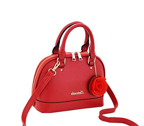 Classici Borse Borse Xiuy Lmpermeabile Mano Da Metallo Originali Fashion Red Spalla Kawaii Unicolor Borse Donna Lavoro Messenger Borse Borse Personalizzati a Classica Secchiello Borse zqwqtx5