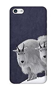 Crooningrose Durable Animal Mountain Goat Back Case/ Cover For Iphone 5c For Christmas