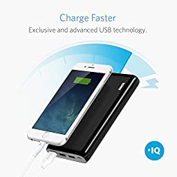 Anker Astro E7 26800mAh Ultra-High Capacity 3-Port 4A Compact Portable Charger External Battery Power Bank with PowerIQ Technology for iPhone, iPad, Nintendo Switch and More