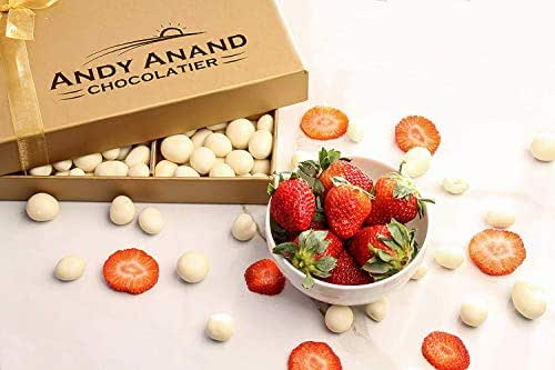 Andy Anand's Chocolate covered 2 Pounds of Cherry and Greek Yogurt Strawberries & Plush Teddy Bear, Birthday Valentine Day, Gourmet Christmas Holiday Food Gifts, Thanksgiving, Mothers day Fathers Day