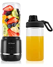 iOCSmart Portable Personal Size Blender, USB Rechargeable Mini Juicer Blender for Fruits Smoothie Shakes Baby Food with 2 Juicer Cup Glass, 4000mAh High Capacity Batteries