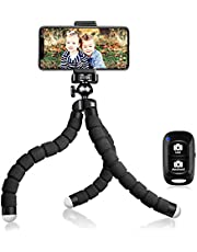 UBeesize Tripod S, Premium Phone Tripod, Flexible Tripod with Wireless Remote Shutter, Mini Tripod Stand Holder for Camera GoPro/Mobile Cell Phone (Upgraded), Load Capacity: 3.5 kg