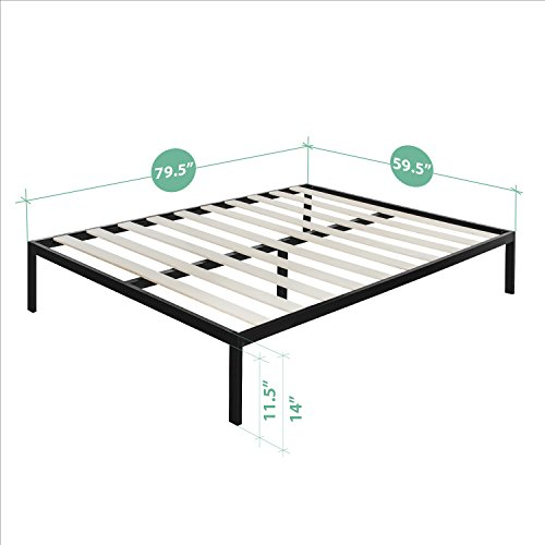 Zinus Modern Studio 14 Inch Platform 3000 Metal Bed Frame / Mattress Foundation / no Boxspring needed / Wooden Slat Support / Good Design Award Winner, Queen