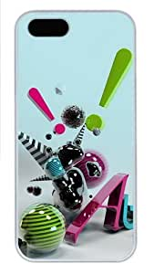3D Abstract Art Polycarbonate Plastic iPhone 5S and iPhone 5 Case Cover White