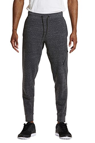 fan products of etonic Men's FLX Zip Jogger, Charcoal Heather, X-Large
