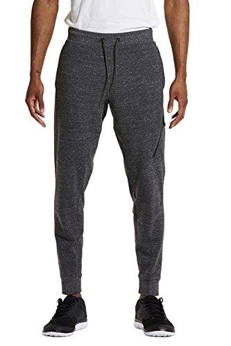 Etonic Men's FLX Zip Jogger, Charcoal Heather, Large