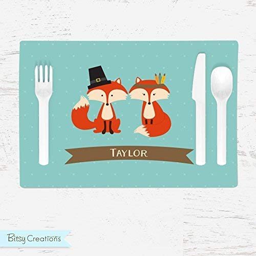 (Personalized Thanksgiving Placemat for Kids)
