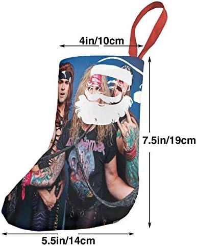 クリスマスの日の靴下 (ソックス3個)クリスマスデコレーションソックス 音楽Steel Panther クリスマス、ハロウィン 家庭用、ショッピングモール用、お祝いの雰囲気を加える 人気を高める、販売、プロモーション、年次式