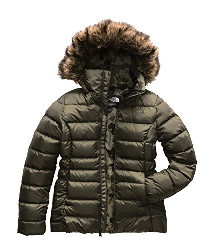 The North Face Women's Gotham Jacket II - New Taupe Green & New Taupe Green Macrofleck Print - S