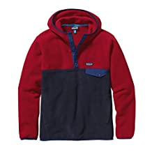 Patagonia Synchilla Snap-T Fleece Hooded Pullover - Men's Navy Blue, M
