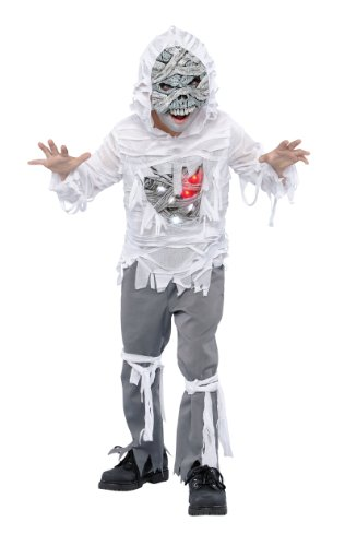 Light Up Mummy Child Costume Size Medium (8-10) (Kids Mummy Costumes)