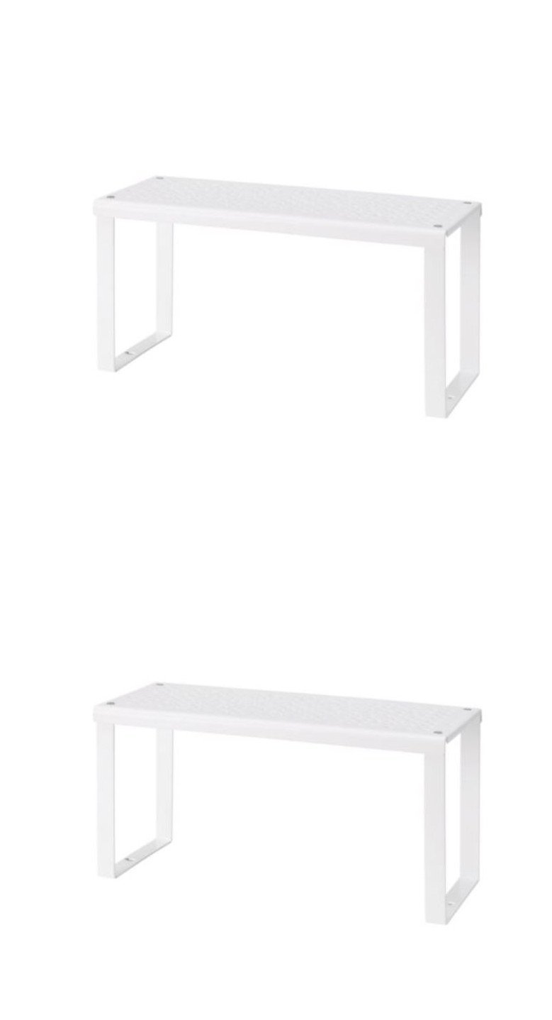 2 X IKEA Variera Shelf Insert White, Cupboard Organiser Small