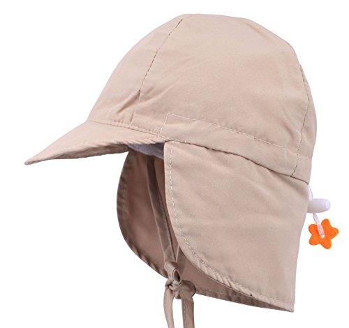 Livingston Toddler's SPF 50+ UV Sun Ray Protective Safari Hat w/Neck Flap,Khaki by Livingston