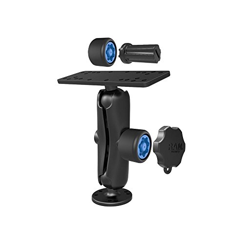 RAM Mounts (RAM-SG-111U) Mixed Combination Pin-Lock Security Kit and 1.5'' Diameter C Size Mount for Gimbal Bracket by RAM MOUNTS