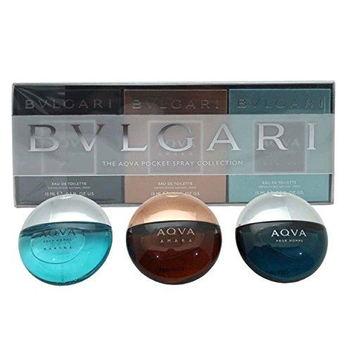 Bvlgari The Aqva Pocket Spray Collection 3-Piece Set for Men