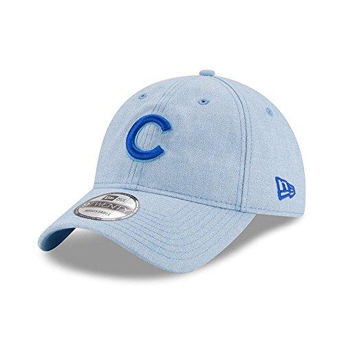 (New Era Chicago Cubs 2018 Father's Day 9TWENTY Adjustable Hat - Light Blue )