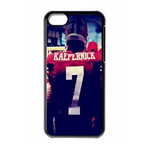 SAN FRANCISCO 49ERS NFL Classic Design Print Black Case With Hard Shell Cover for Apple iPhone 5C