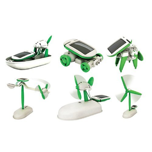 Price comparison product image 6 in 1 Solar Power DIY Educational Toy Kit Boat Fan Car Robot Puppy Windmill