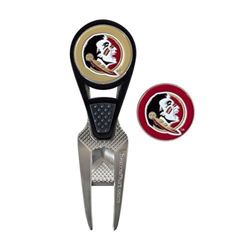 Team Effort Florida State Seminoles CVX Golf Ball Mark Repair Tool and 2 Ball Markers