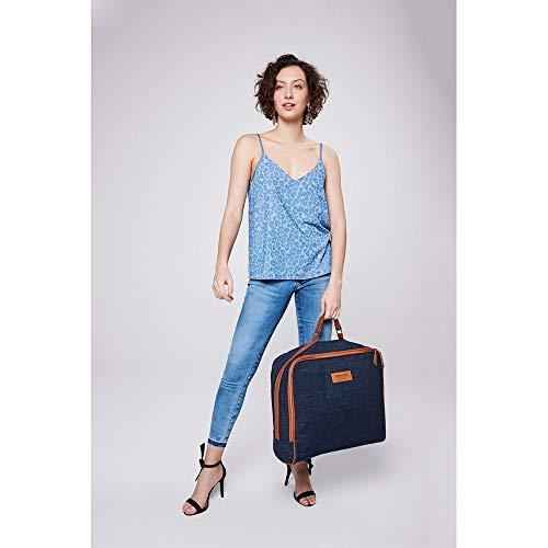 Bolsa Jeans Maxi Tam: Uc/cor: Blue