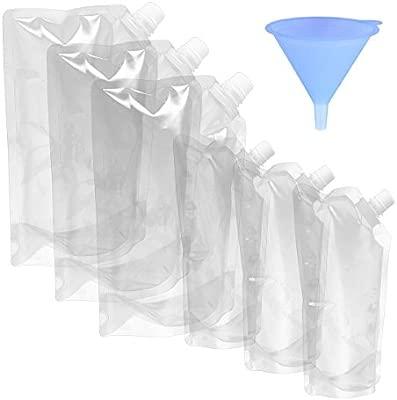 BESTONZON - 7 bolsas de plástico transparente líquido para ...