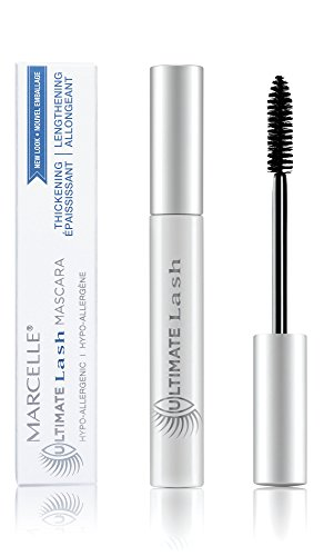 Marcelle Ultimate Lash Mascara, Dark Brown, Hypoallergenic and Fragrance-Free, 0.28 fl oz - Black Brown Ultimate Mascara