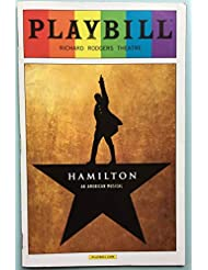 Pride Rainbow Playbill from Hamilton on broadway at the Richard Rodgers Theatre starring Lin-Manuel Miranda Leslie Odom, Jr. Rory O'Malley Phillipa Soo Renee Elise Goldsberry Christopher Jackson Daveed Diggs Music and Lyrics by Lin-Manuel Miranda