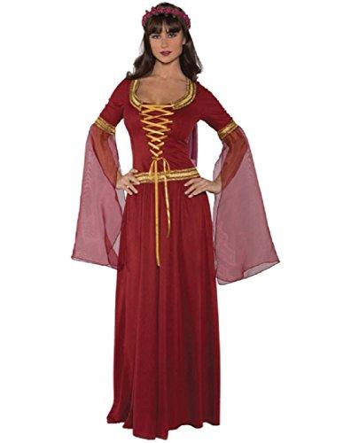 Costumes Halloween Large Extra (Underwraps Costumes Women's Renaissance Queen Costume - Maiden, Burgundy,)