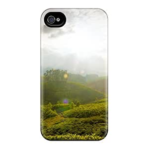 Protective Tpu Case With Fashion Design For Iphone 4/4s (the Hills Of Munnar) Kimberly Kurzendoerfer