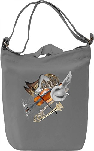 Orchestra Borsa Giornaliera Canvas Canvas Day Bag| 100% Premium Cotton Canvas| DTG Printing|