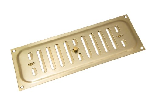 Brass Vent Direct (2 Of Polished Brass Hit And Miss Louvre Vent Ventilation Cover 9 X 3 Inch by DIRECT HARDWARE)