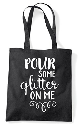 Shopper Bag Some Pour Black Glitter Me On Tote Statement Y00wr