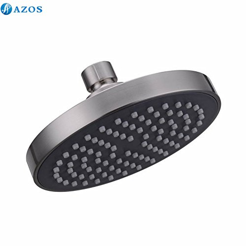 AZOS ABS Plastic Rainfall Ceiling Fixed Shower Head Spray Ni